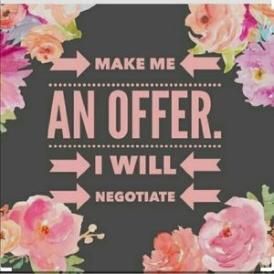 Willing to negotiate!